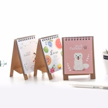 New Year Calendar 2018 DIY Cute Cartoon Decoration Table Desk Pad Calendar Paper Rack for Home School Office School Supplies