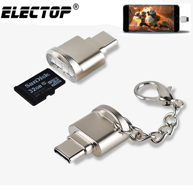 Portable USB 3.1 Type C Card Reader USB-C TF Micro SD OTG Adapter Type-C Memory Card Reader For Samsung Macbook Huawei LeTV bangle