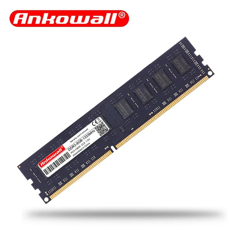 Ankowall DDR3 8GB/4GB 1600MHz/1333MHz Desktop RAM Memory 1