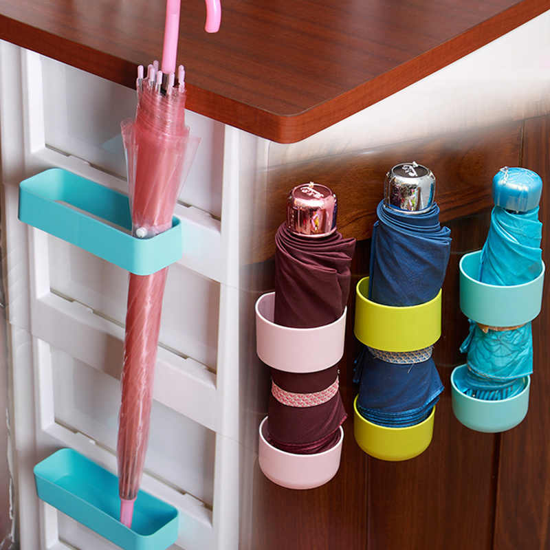 Офисная Удобная клейкая вешалка настенная стойка для хранения зонта кухонная