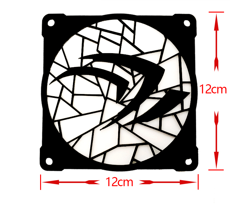 12 sm pərəstişkarları üçün MOD DIY 12cm X 12cm Fan Cover - Kompüter hissələri - Fotoqrafiya 5