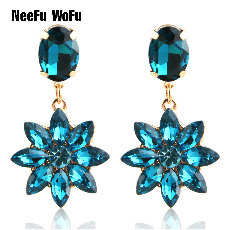 NeeFu WoFu Drop Rhinestone Earring Crystal Tassel Big Earring Dangle Zinc  alloy Large Long Brinco Printing Ear Oorbellen -in Drop Earrings from  Jewelry ... 51d46a0bdaa0