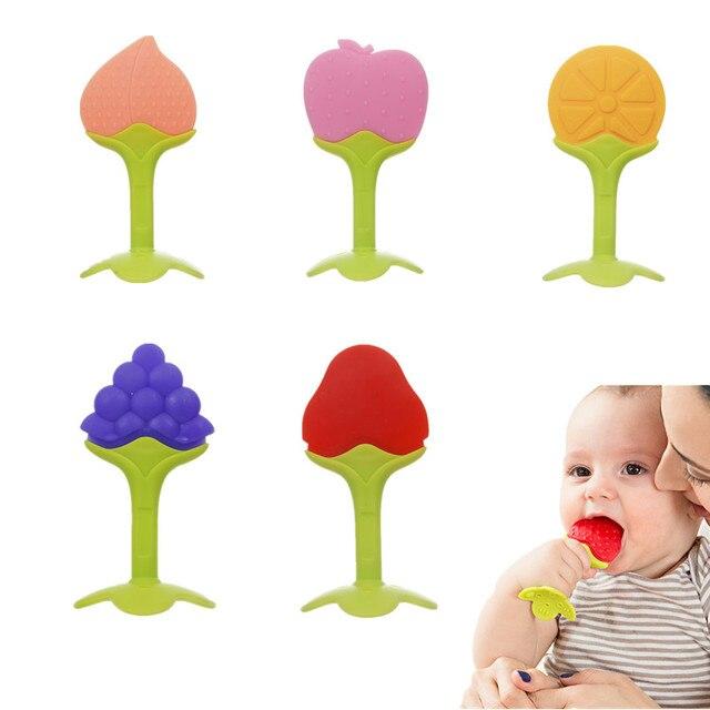 Mordedor de silicona para bebés, mordedor de silicona, mordedor para bebés, juguetes para morder dientes, cuidado Dental para bebés, fortalecimiento de la formación de dientes