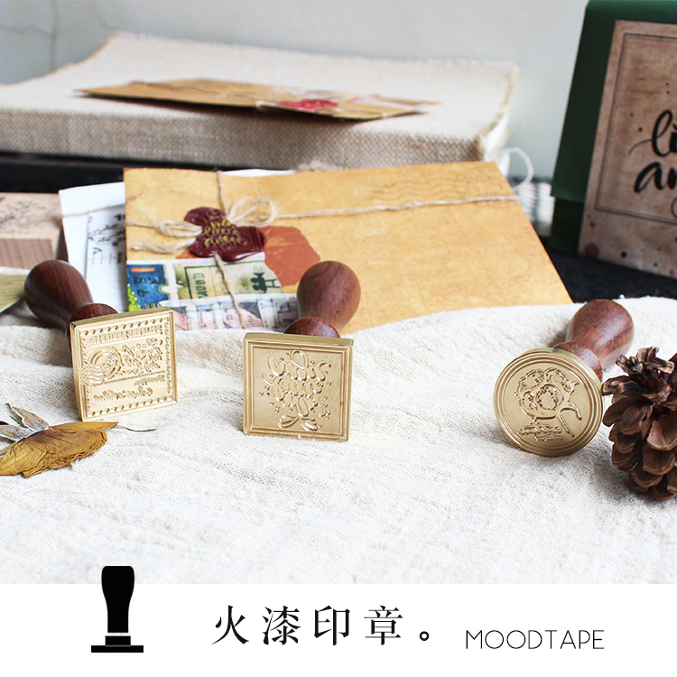 Moodtape Personality Wooden Stamp Wood Wax Seal Stamp For DIY Gift / Invitation  Album Decorative Stamp Cotton Metal Stamp Seal