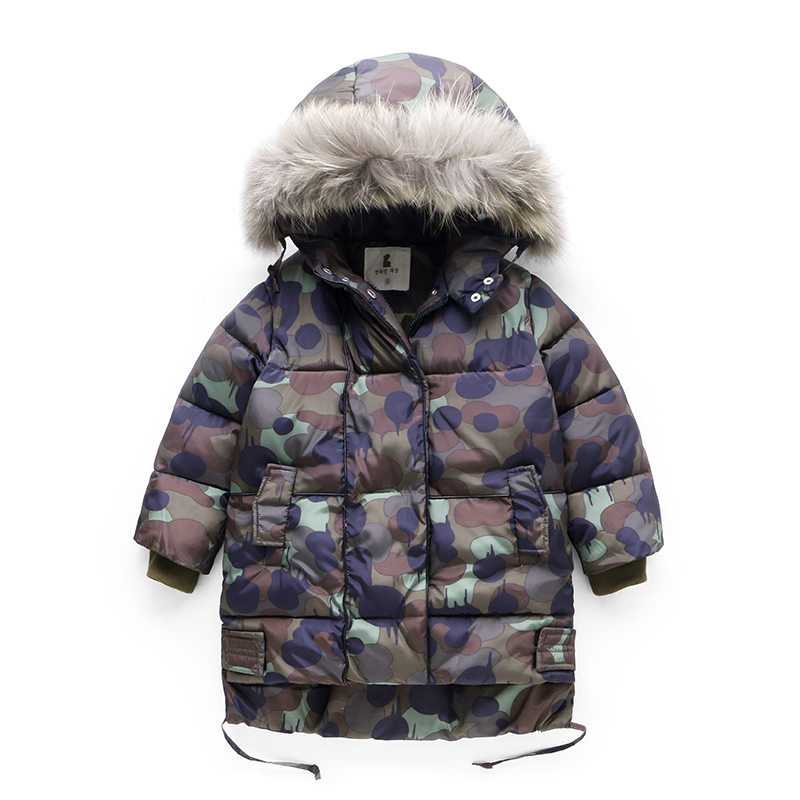 Fashion 2018 Girls Parka Baby Boys Winter Coat Baby Boys Cotton Fashion Camouflage Winter Jacket Outwear Kids Warm Cotton Padded 2018 winter children boys parka jacket kids thicken warm 90% cotton camouflage hooded coat baby boys girls casual outerwear