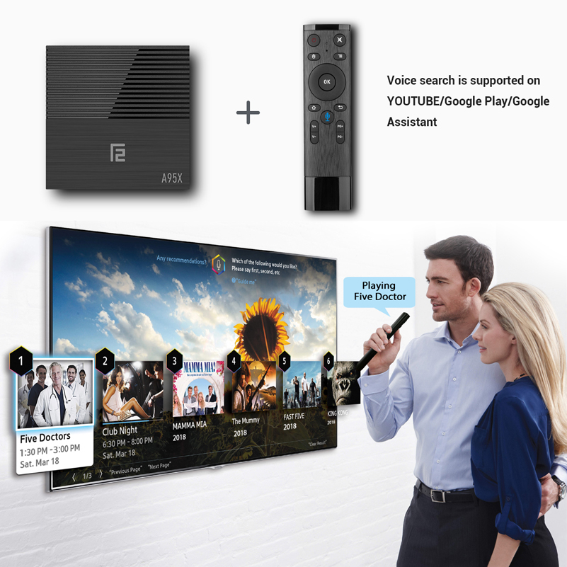 Image 2 - A95x F2 Smart TV Box Android 9.0 Mi ni Tv Box S905 x2 4G 64G 4k Quad Core Set Top Box Media Player Support IPTV PK X96 MAX HK1MI-in Set-top Boxes from Consumer Electronics