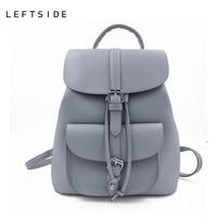 LEFTSIDE Women S Drawstring PU Leather Backpack Schoolbag Teenage Beautiful Backpacks Women High Quality Ladies Back