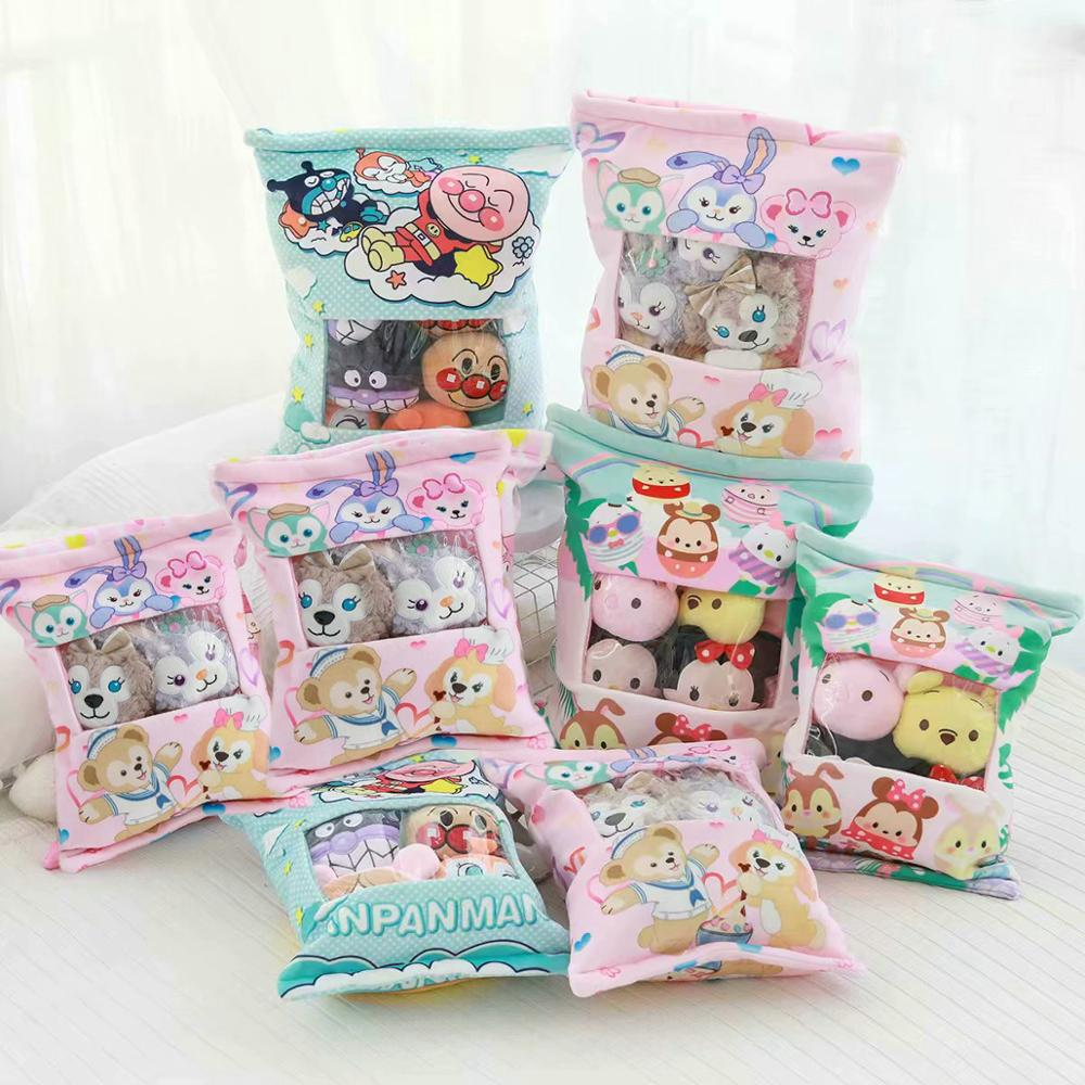 8pcs Mini Size Dolls Mouse & Rabbit Pudding Pillow Or 4pcs In One Bag Pilliow Anime Toys Dog Plush Doll Sleeping Pillow Gift