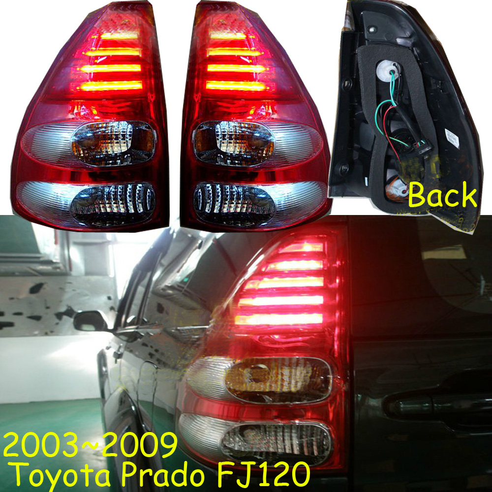 цены car-styling,Prado Taillight,LC120,2003~2009,led,Free ship!2pcs/set,Prado fog light;car-covers,Chrome,Prado tail lamp,Cruiser