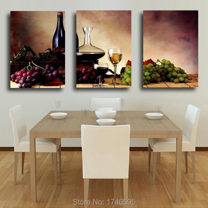 Big size modern dining room wall decor wine fruit Kitchen Wall Art  X Kitchen Dining Room Ideas Html on