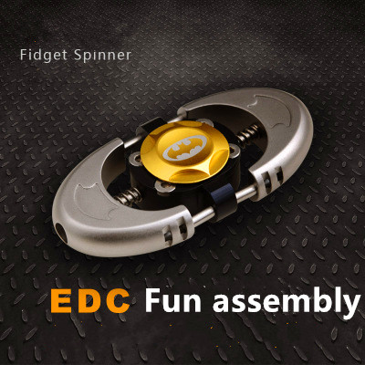 Batman version Fidget Spinner Metal EDC Toys Tri Hand Spinner For Autism and ADHD 606 mixed ceramic bearing For Fun assembly 1000pcs spinner 608 bearing for unique fidget finger spinner triangle miniature rotating luxury toys edc hand spinners toy