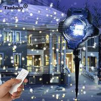 Outdoor laser projection lamp Waterproof remote control fairy light Stage Lighting Effect for Christmas Lawn snow party garden