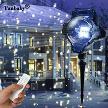 Outdoor laser projection lamp Waterproof remote control fairy light Stage Lighting Effect for Christmas Lawn snow party garden стоимость