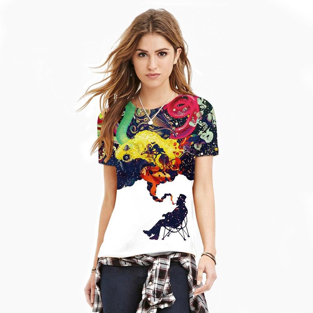 Mr.1991INC 2018 New Hot Men/Women t shirt Short Sleeve Summer 3D starry sky digital printing T-shirt Tops Tees Size S-3XL NA258