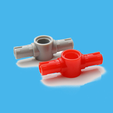 20Pcs/lot Technic Pin Connector Hub with 2 Pins with Friction Ridges Lengthwise Bricks Parts Compatible with 87082 Brick set Toy цены