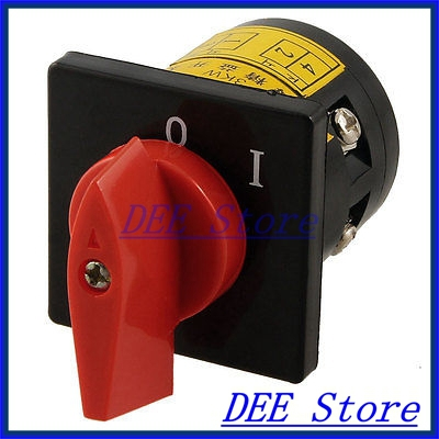 AC 380V 10A on/off 2 Positions Rotary Cam Universal Changeover Switch ui 660v ith 160a on off on 3 positions rotary cam changeover switch lw28 160 3