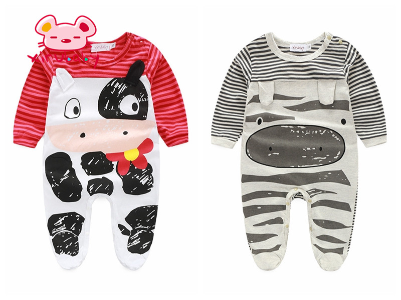 Xirubaby cute rompers jumpsuit comfortable baby boy girl cow clothes
