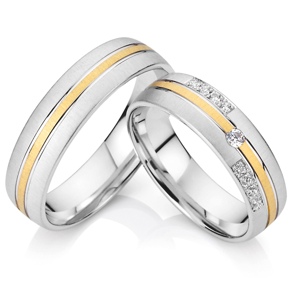 1 pair lovers classic titanium steel jewelry wedding bands rings ...