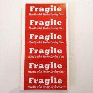 Image 5 - 300 szt. 76x25mm delikatny uchwyt do mnie z delikatną miłością naklejki etykiety do ochrony opakowania, nr art. SS40