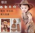 2016 venta Caliente partido de la mascarada de disfraces de Halloween del bebé Cos rendimiento ropa Cosplay ropa de vaquero del bebé