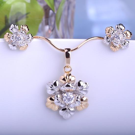 Illuminati Indian Gold Jewelry Sets Necklaces Pendants & Earrings