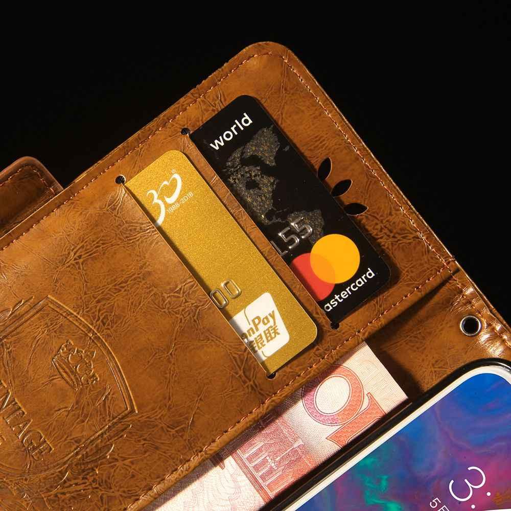 الوجه حقيبة لهاتف سامسونج غالاكسي J6 2018 حالة خمر محفظة بحامل بطاقات أغطية جلد لسامسونج J4 2018 حقيبة لهاتف سامسونج J400 J600 الاتحاد الأوروبي