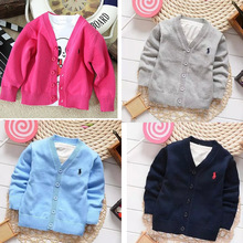 New Kids clothes Boys cardigan Spring candy-colored 100% cotton baby boys and girls in polos single-breasted jacket colorfull