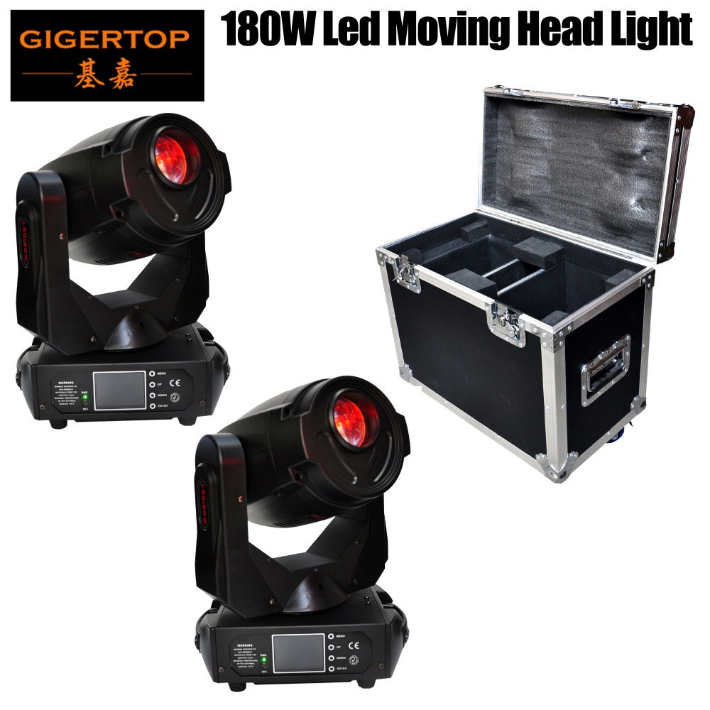 2IN1 Flightcase Pack 180W Sharpy Beam Moving Head Stage Light Super Bright LED Stage Light for DJ Disco with Ce RoHS Gobo/Color 6pcs lot white color 132w sharpy osram 2r beam moving head dj lighting dmx 512 stage light for party