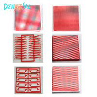 6 Boxes Dental Lab Material Dental red Wax Mesh Net Round Hole Square Grid Clasp Shape Wax Sheet For Cast Metal Partial