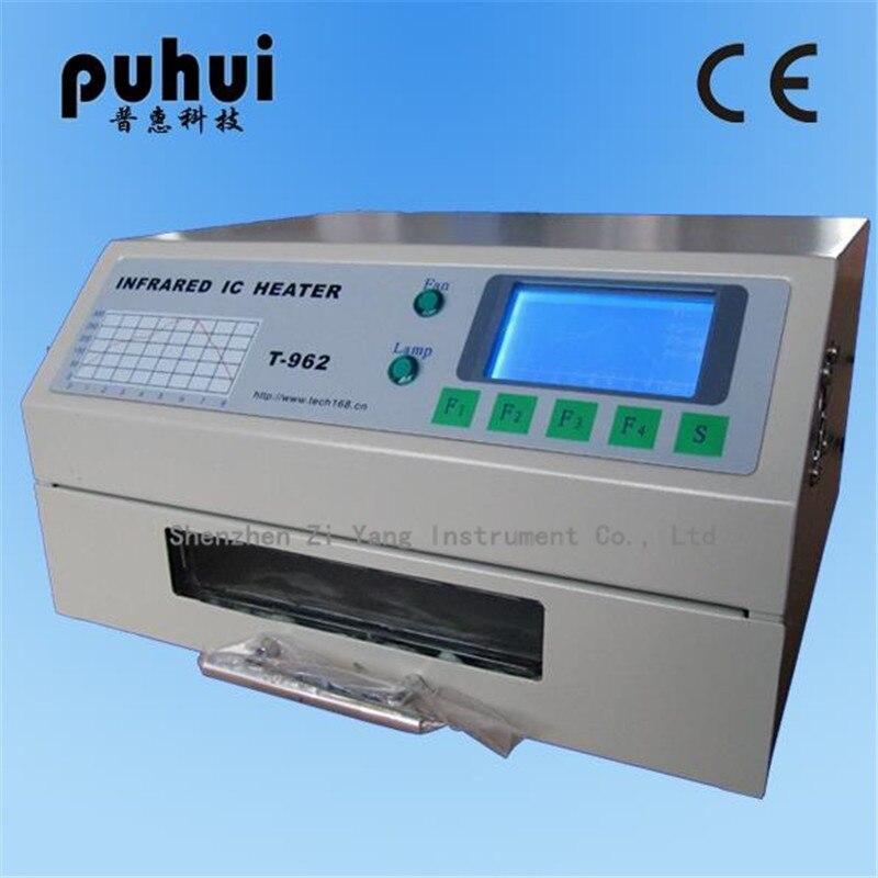 PUHUI T-962 T962 Four de Refusion Infrarouge IC Chauffage À Souder Machine 800 W 180x235mm T962 pour BGA SMD SMT de reprise