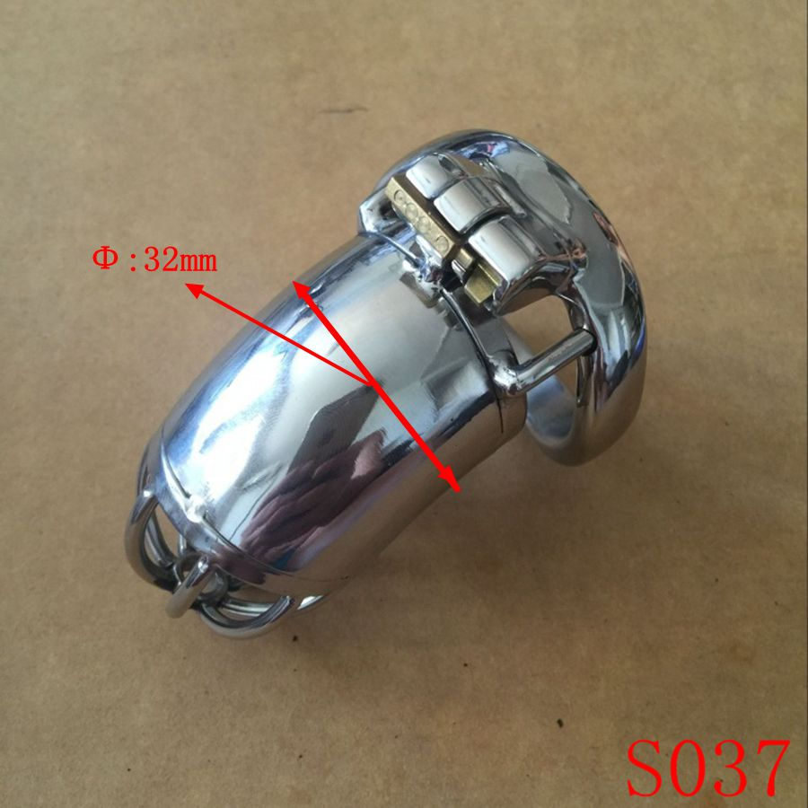 ФОТО Lastest New Style Lock Male Chastity Devices With Urethral Sound Catheter Adult Sex Toys For Men 9CM length Cock Cage S037