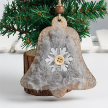 Cute Furry Snowflake Wooden Christmas Hanging Ornaments 1 pc Craft Gifts