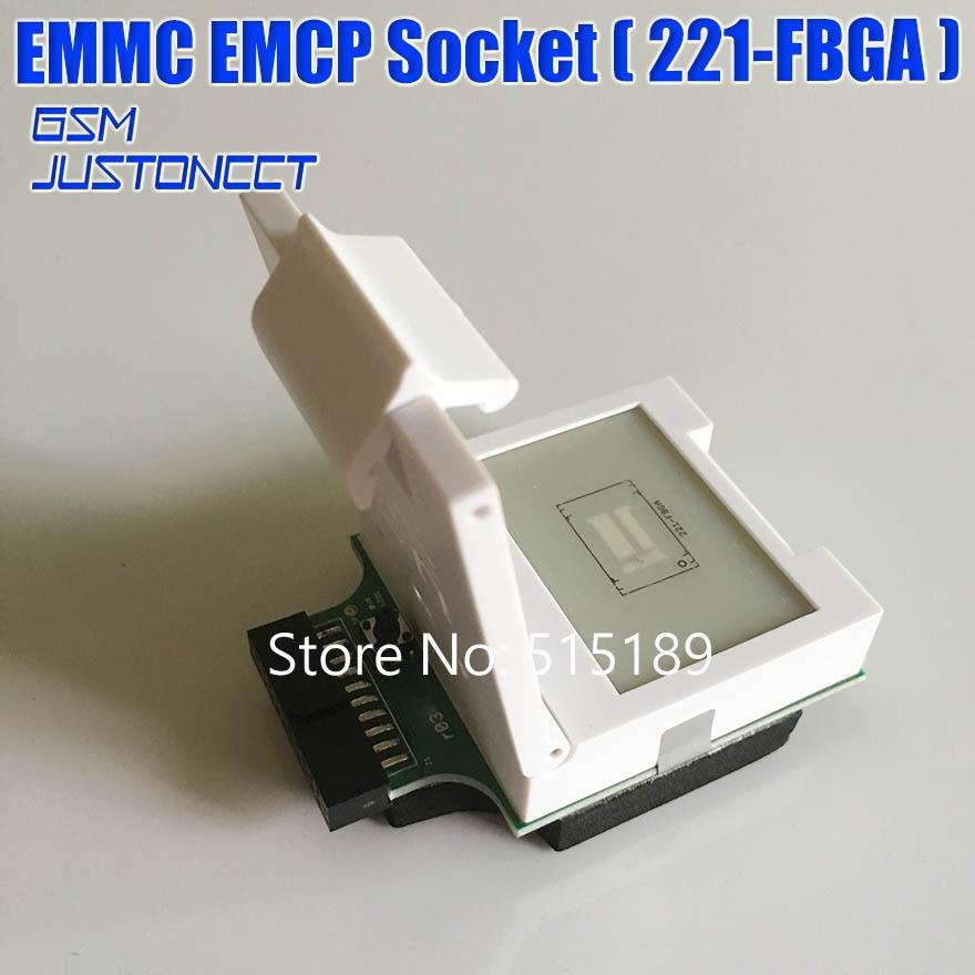 EMMC / EMCP Socket ( 221-FBGA ) BGA221 Test Socket Adapter For UFI-Box / Ufi Box