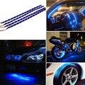 4 Unids/lote 12 V 30 cm/15 Led Car Motors Truck Decoración Luces Impermeable Flexible LED Strip Light Car luces Azul