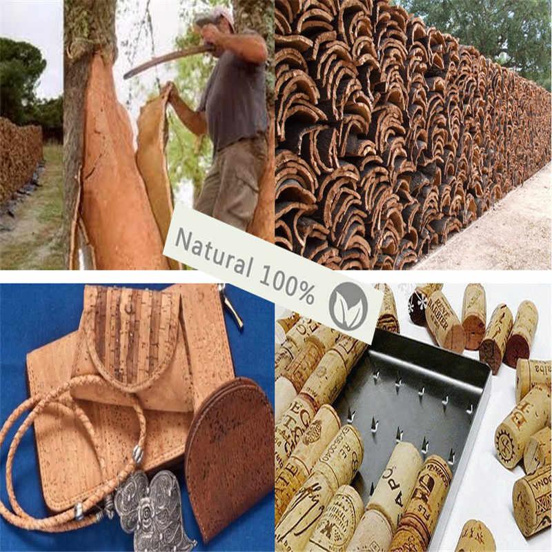 Natural cortiça keychian antigo tira vida da árvore com azul e bege artesanal cortiça chaveiro de madeira original I-025