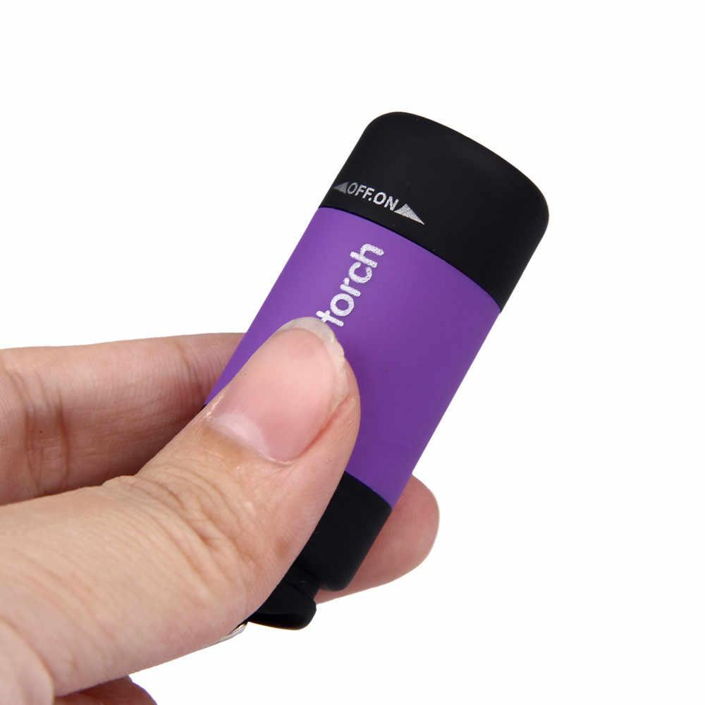 Mini LED Licht 0,3 W 25Lum Tragbare Taschenlampe USB Im Freien Wasserdichte Wiederaufladbare Schlüsselanhänger Taschenlampe Lampe Lichter Multi-farbe # sw