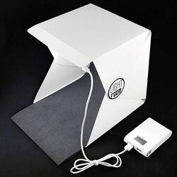 New Portable Folding Lightbox Photography Studio Softbox LED Light Soft Box DSLR Camera Photo Background for iPhone Xiaomi