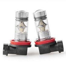 2Pcs H11 Car LED Fog/DRLl/Driving Lightings H4/H7/H8/H9/H10/H11/H16/9005/9006 75W DC12-24V New Auto Led Lights