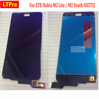 LTPro Black White Tested High Quality For ZTE Nubia M2 Lite M2 Youth NX573J Full LCD