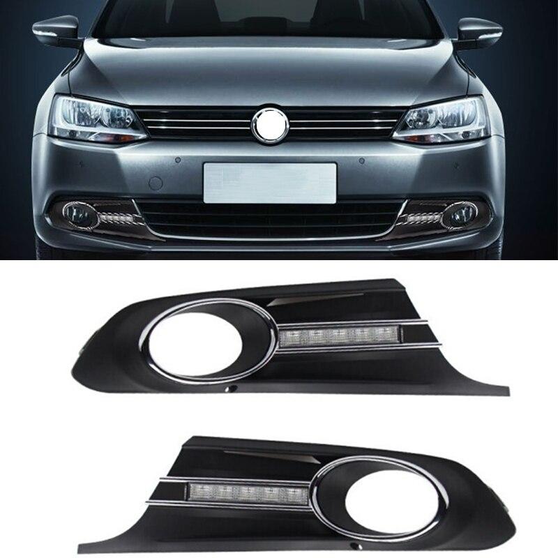 2011-2013 Pre-facelift Drl 12v Online Shop Daytime Running Turn Signal Lights Fog Lihgt Cover Mask Grille For Volkswagen Mk6 Typ 5g