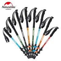 2017 NEW Brand Naturehike Alpenstocks Ultralight Trekking Folding Pole Walking Hiking Sticks Camping Family Alpenstocks