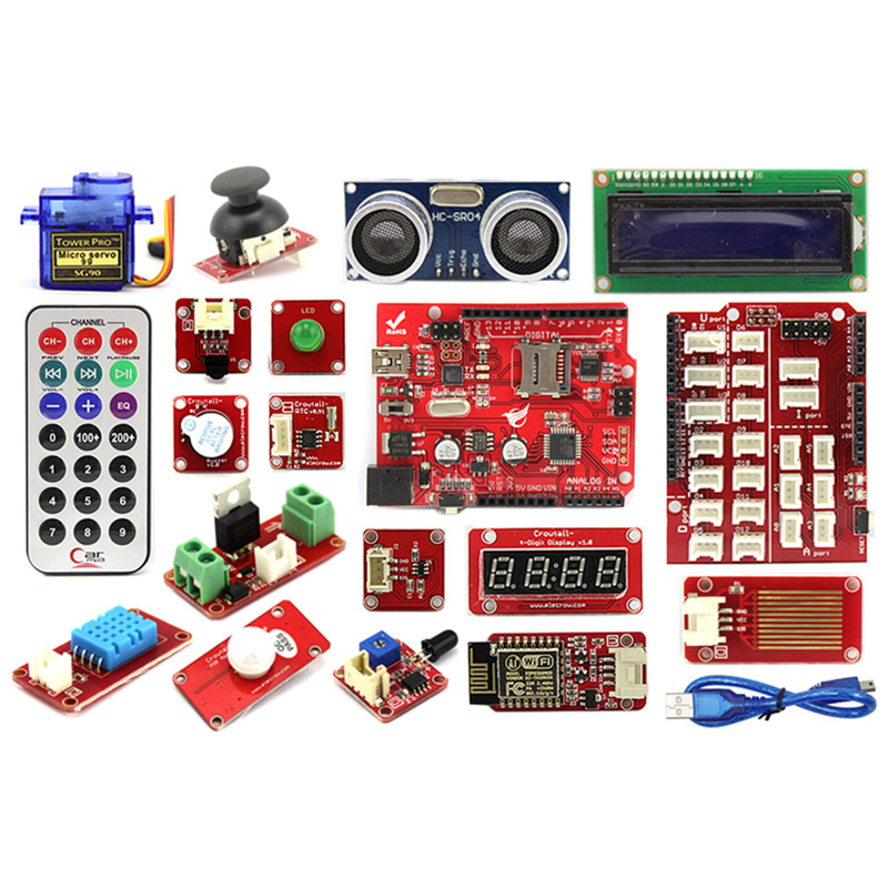 Elecrow Crowtail Advanced Kit for Arduino Starters Kit DIY Maker Fans With User Guide Reatail Box Free DHLElecrow Crowtail Advanced Kit for Arduino Starters Kit DIY Maker Fans With User Guide Reatail Box Free DHL