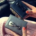 Fashion Korean Bow Girls Coin Purse Women Bow Mini Wallet Kawaii Mini Coin Bag Cards Holder Cute Ladies Clutch Handbag