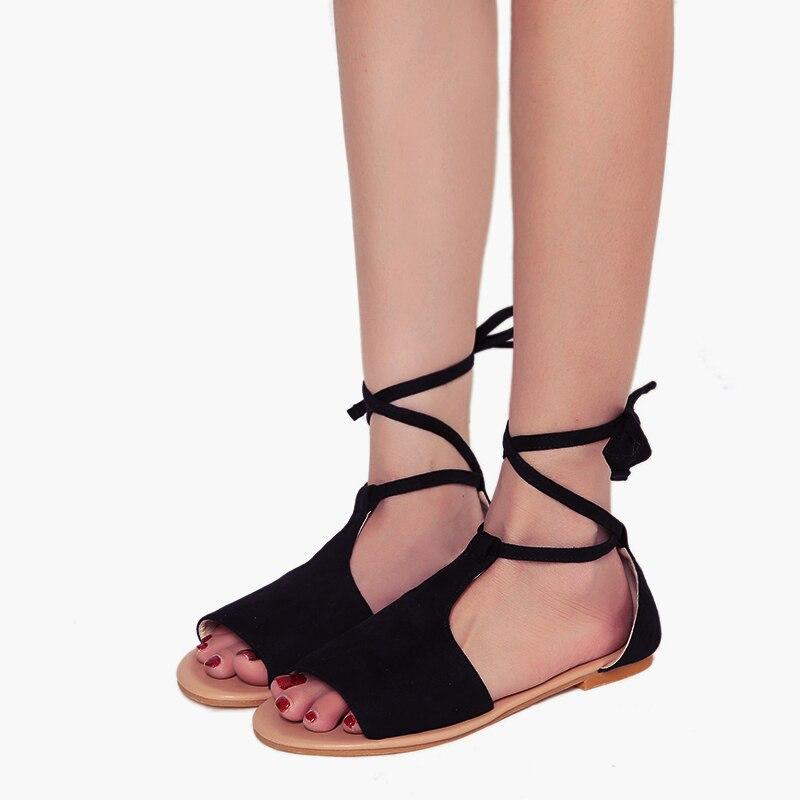 Mujer Tobillo Planas Tino Mujeres Sandalias De Kino Tamaño Rebaño Correa Toe Peep Cubierta Estilo Plus Black gray brown Gladiador Verano Casuales Zapatos Talón I00wS7r