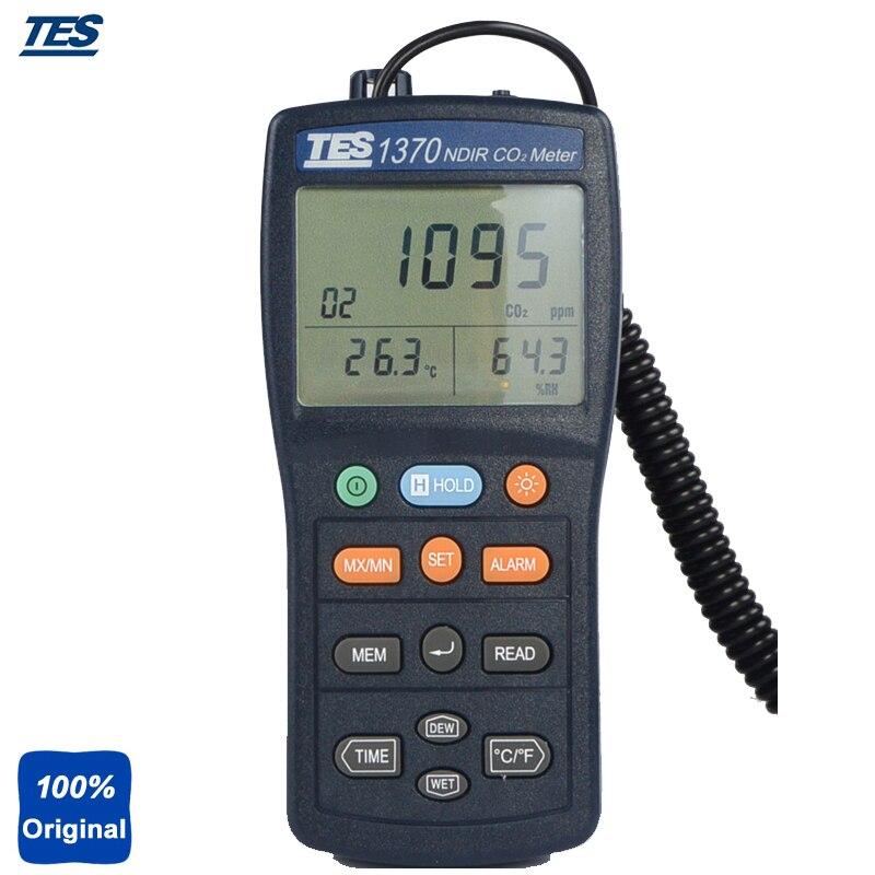 TES-1370 Sans entretien Double Longueur D'onde NDIR Infrarouge CO2 Mètre Capteur (Non-Dispersif Infrarouge) CO2 Gaz Testeur