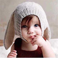 Hats for children 0-6 years old cute baby rabbit ear hat autumn and winter hat knitted hat ear warm Beanies balaclava