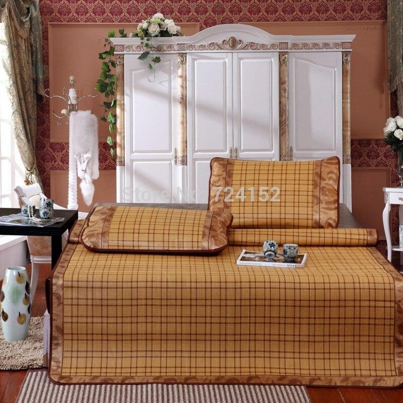Summer cool sleep mat summer mat air conditioned rooms rattan seats 3ps sets of bedding QUEEN