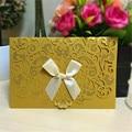 50 unids la Boda Invitaciones Ramadan decoración Feliz cumpleaños tarjetas de felicitación aniversario venta tarjetas de regalo con la cinta