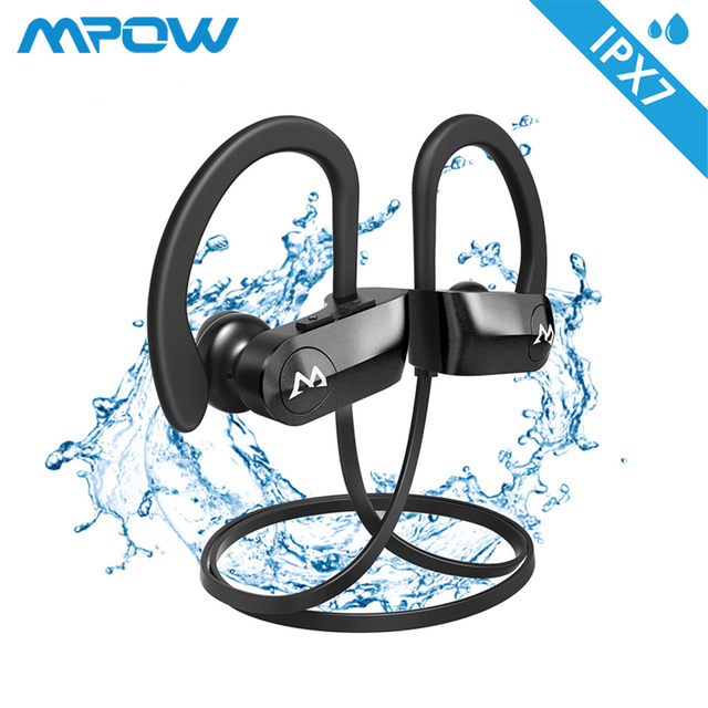 Mpow ipx7 Waterproof D7 2nd Version 10-12H Playing Time Bluetooth Wireless 4.1 Headphons Sport Earphones For iPhone Xs Xr Xiaomi