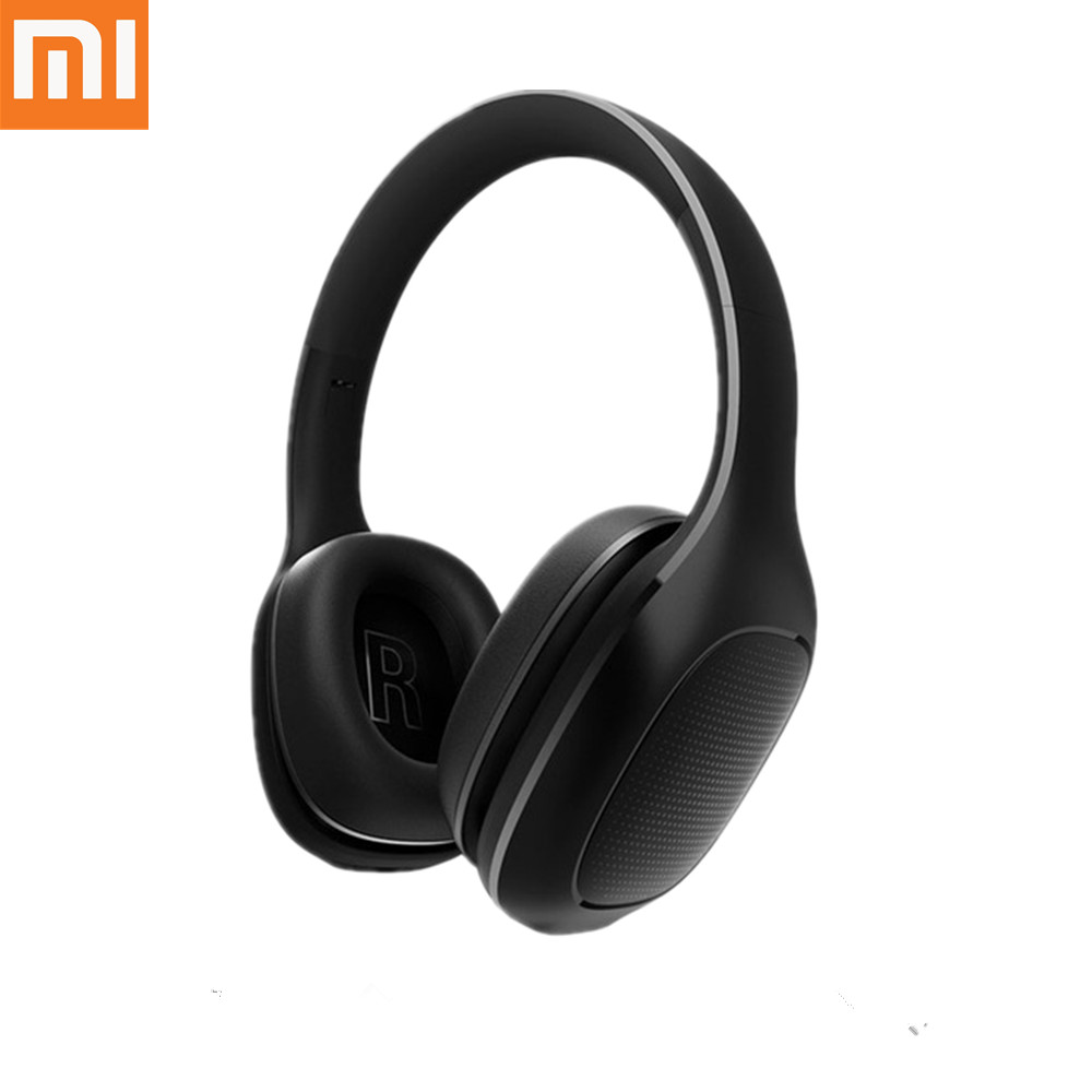 Original Xiaomi Mi Wireless Headphones APT-X Music Play Support Volume Control Bluetooth 4.1 Headset 40mm Dynamic PU Earphone mi headphones comfort white